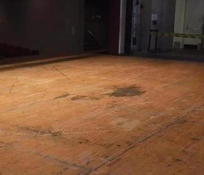 Rec Floor and Water Removal in Tucson Before