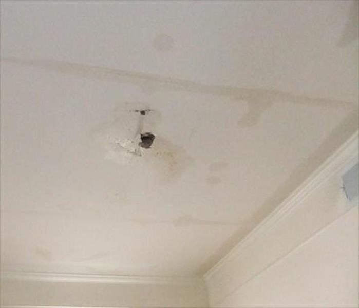 Ceiling Damaged by Water in Tucson Before